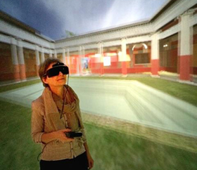 In the DiVE, Duke Immersive Virtual Environment, courtesy of David J. Zielinski. 12 Nov 2014. Photo by Victoria Szabo